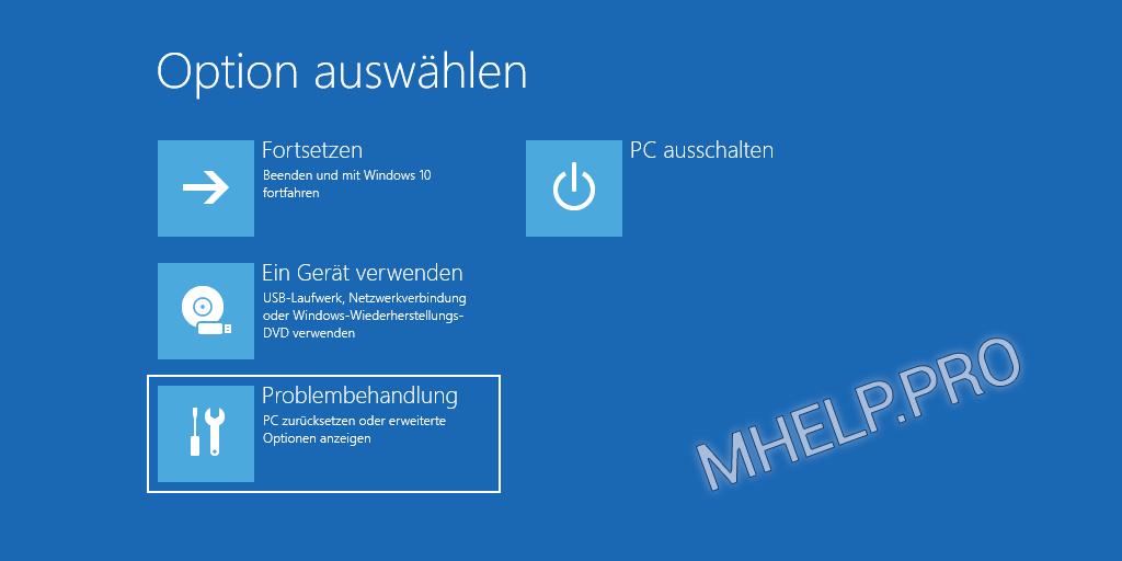 Windows abgesicherter Modus - Option auswählen Problembehandlung