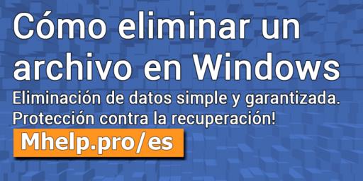 Cómo eliminar un archivo en Windows