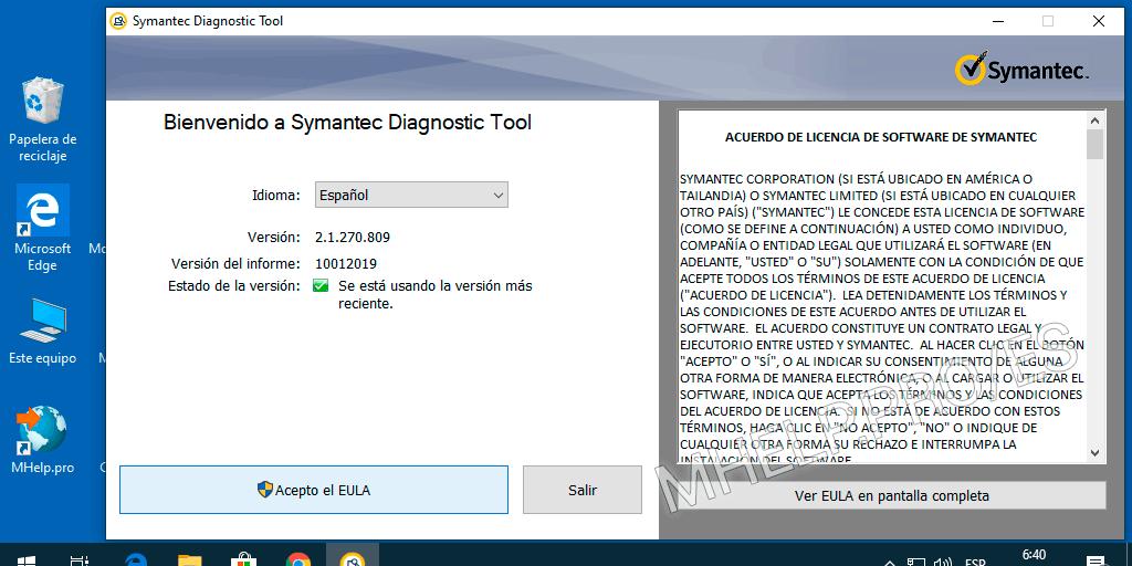 Solucionar problemas de instalación (SymDiag)