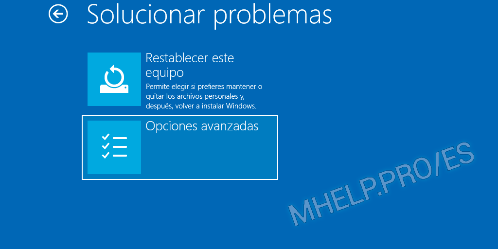 Windows 10 Solucionar problemas