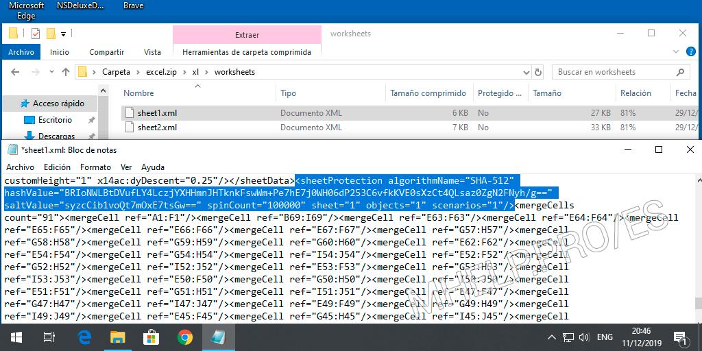 Eliminar la protección de un archivo de página de Microsoft Excel