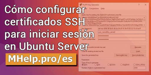 Cómo configurar certificados SSH para iniciar sesión en Ubuntu