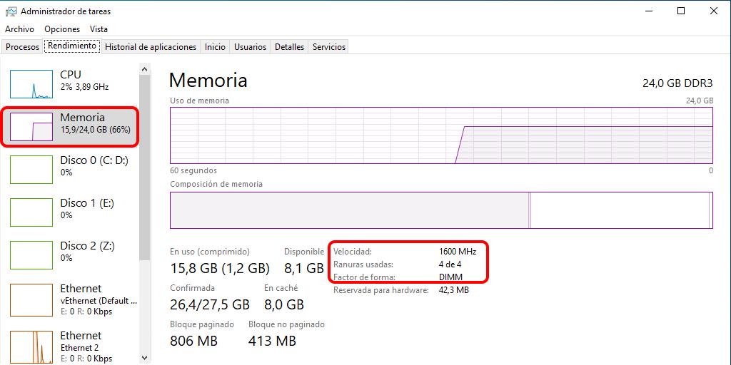 Cómo averiguar la cantidad total de RAM usando Administrador de tareas