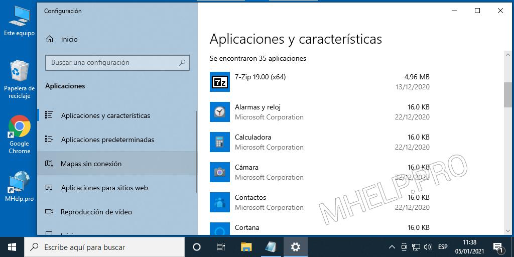 Windows 10: lista de aplicaciones y características