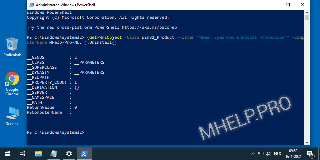 Verwijder Symantec Endpoint Protection via PowerShell