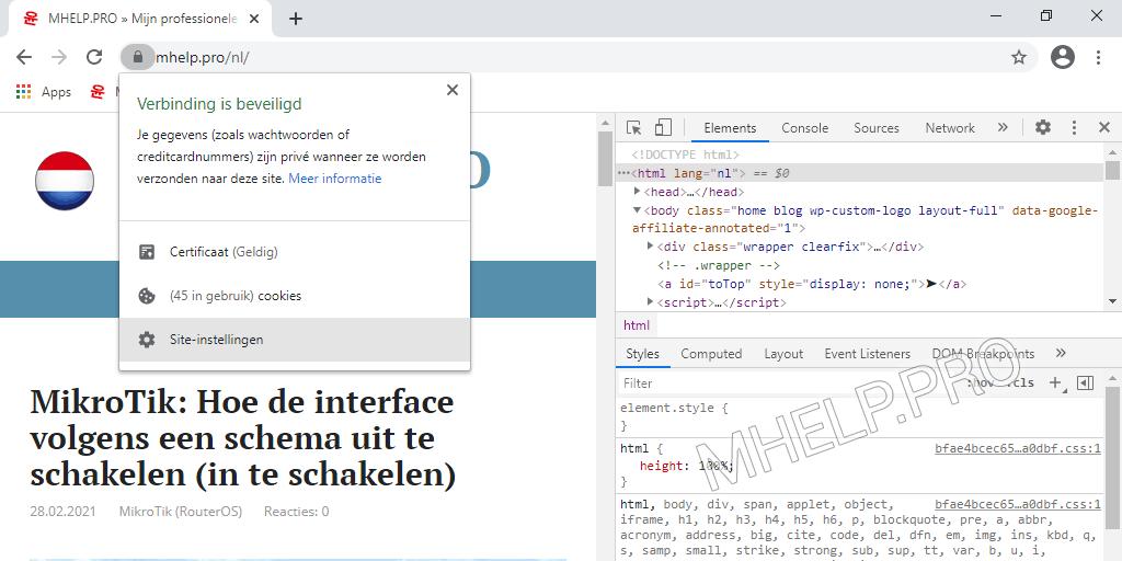 Hoe de cache van een site (van een specifieke pagina) te wissen met de knop Sitegegevens bekijken.
