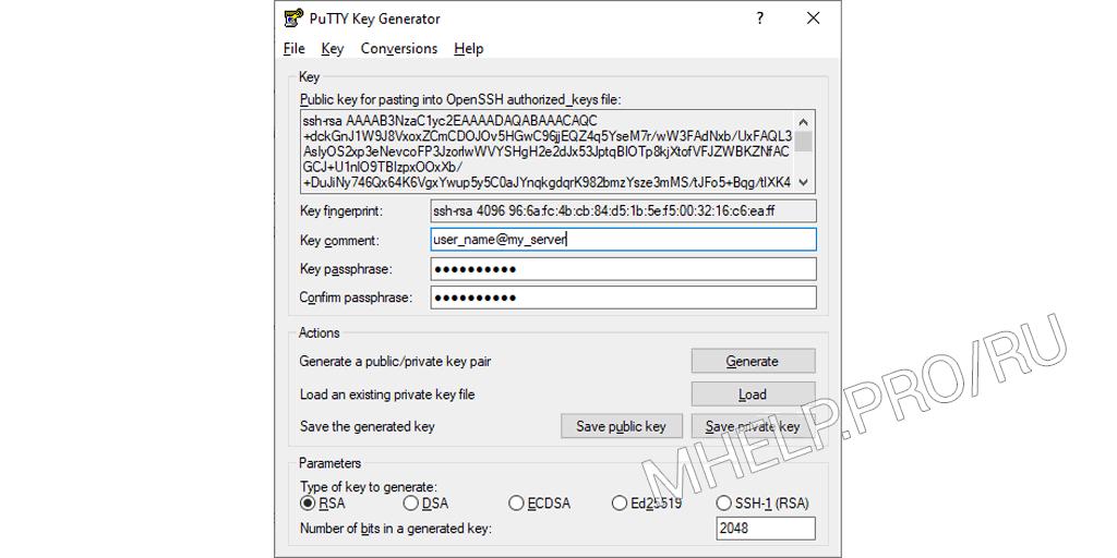 Как настроить SSH сертификаты для входа в putty