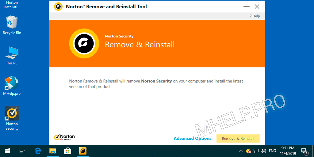 Complete Norton Security uninstall