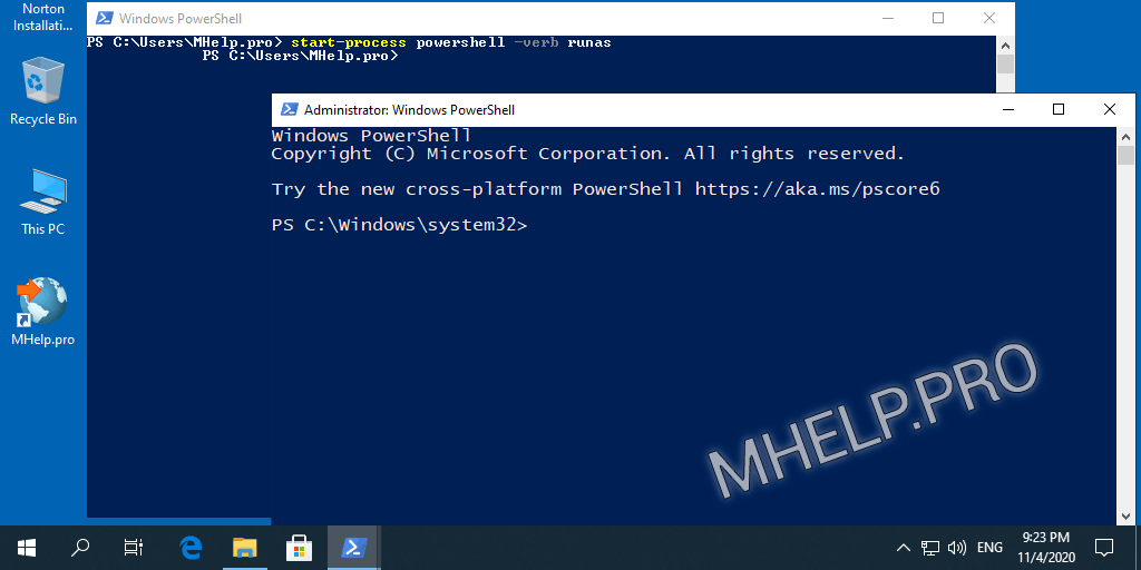 How to Run PowerShell as Administrator via PowerShell (with user rights)