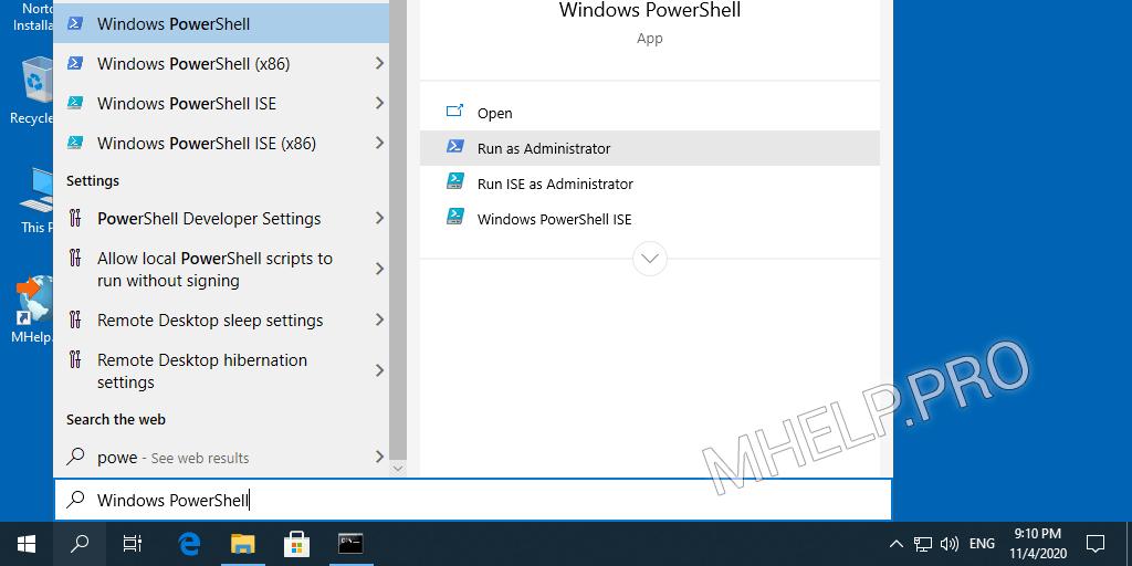 How to Run PowerShell as Administrator via Search menu