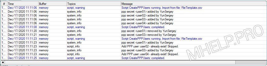 MikroTik Script: Bulk create VPN users from a file